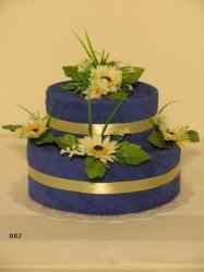 Textilní dort KAMILKA 002(modrý)