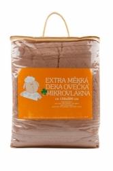 Deka OVEČKA® - žakár 150x200 cm barva 003 ekru/bílá ovečka