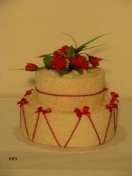 Textilní dort KAMILKA 005(smetanový)