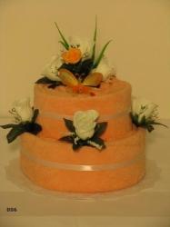 Textilní dort KAMILKA 006(lososový)