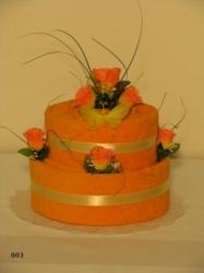 Textilní dort KAMILKA 003(oranžový)